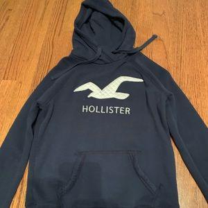 Navy Hollister Hoodie
